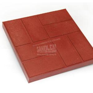 Плитка тротуарная полимерпесчаная 8 кирпичей цвет Красно-вишневый