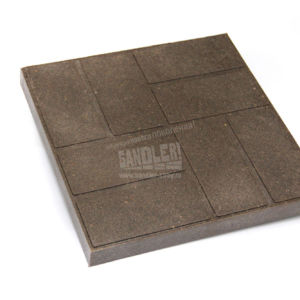 Плитка тротуарная полимерпесчаная 8 кирпичей цвет Мокрый песок
