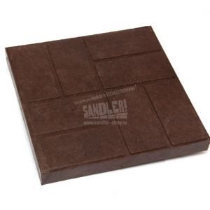 Плитка 8 кирпичей цвет Темно-коричневый