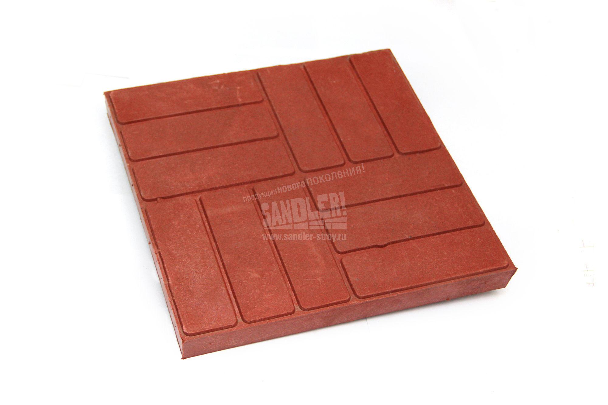 Плитка тротуарная полимерпесчаная Королевский кирпич цвет Красно-вишневый