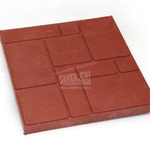 Плитка тротуарная полимерпесчаная Старый город цвет Красно-вишневый