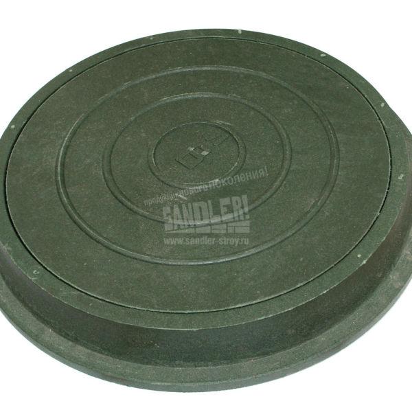 Люк канализационный легкой серии цвет Зеленый