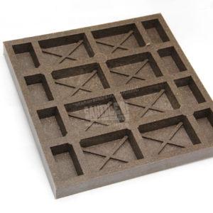 Обратная сторона плитки 8 кирпичей