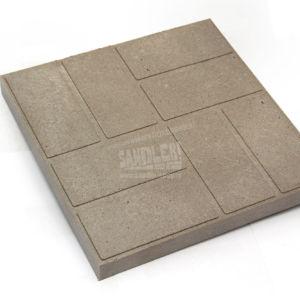 Плитка тротуарная полимерпесчаная 8 кирпичей цвет Светло-серый