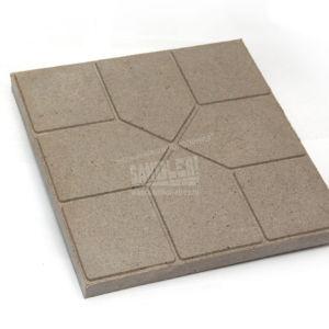 Плитка тротуарная полимерпесчаная Чешский бульвар цвет Светло-серый