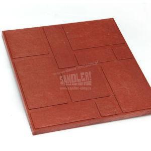 Плитка тротуарная полимерпесчаная Садовая цвет Красно-вишневый