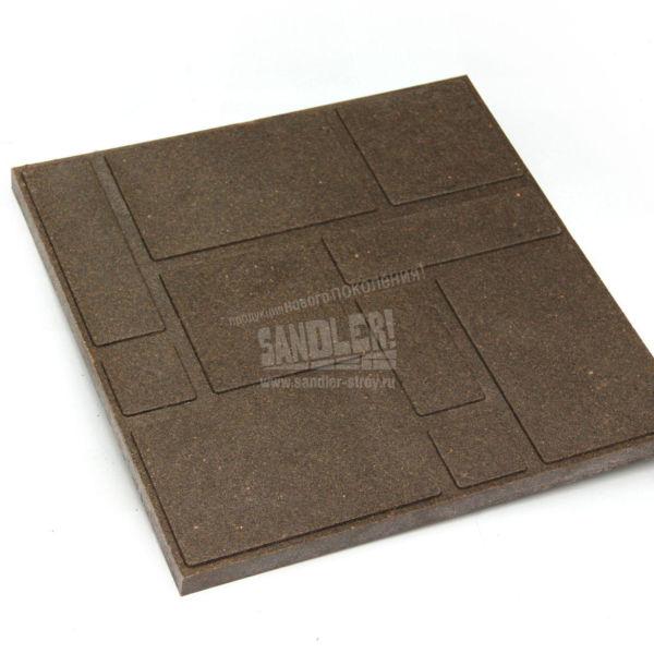 Плитка тротуарная полимерпесчаная Садовая цвет Мокрый песок
